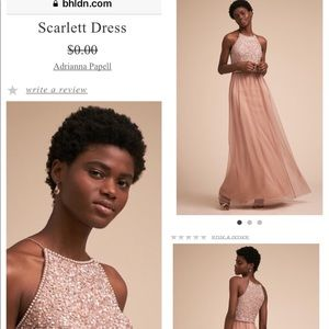 BNDLN Anthropologie Rose gold halter bridesmaid